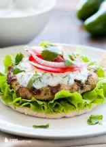 Turkey Burger with Cilantro Aioli