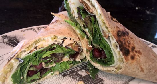 Andi's Turkey Hatch Chile Pomegranite Bacon Wrap