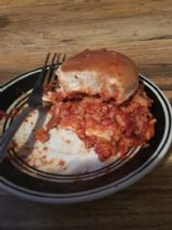 Turkey Sloppy Joes with Crushed Wheat Bun
