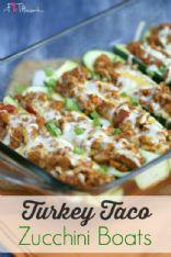 Turkey Taco Zucchini Boats