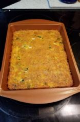 Turkey and spinach protein breakfast egg casserole
