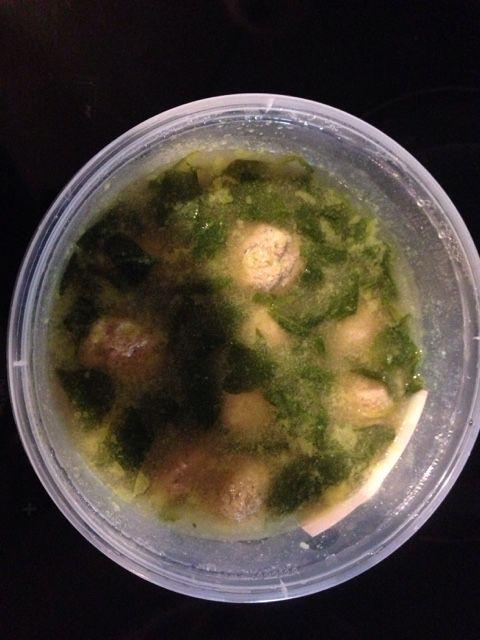 Turkey meatball wedding soup