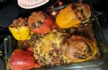 Turkey taco stuffed peppers