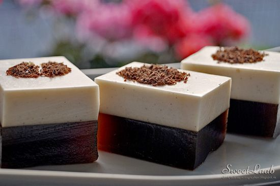 Vanilla coffee jelly