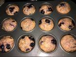 Vegan Blueberry Muffins w/Juicer Pulp