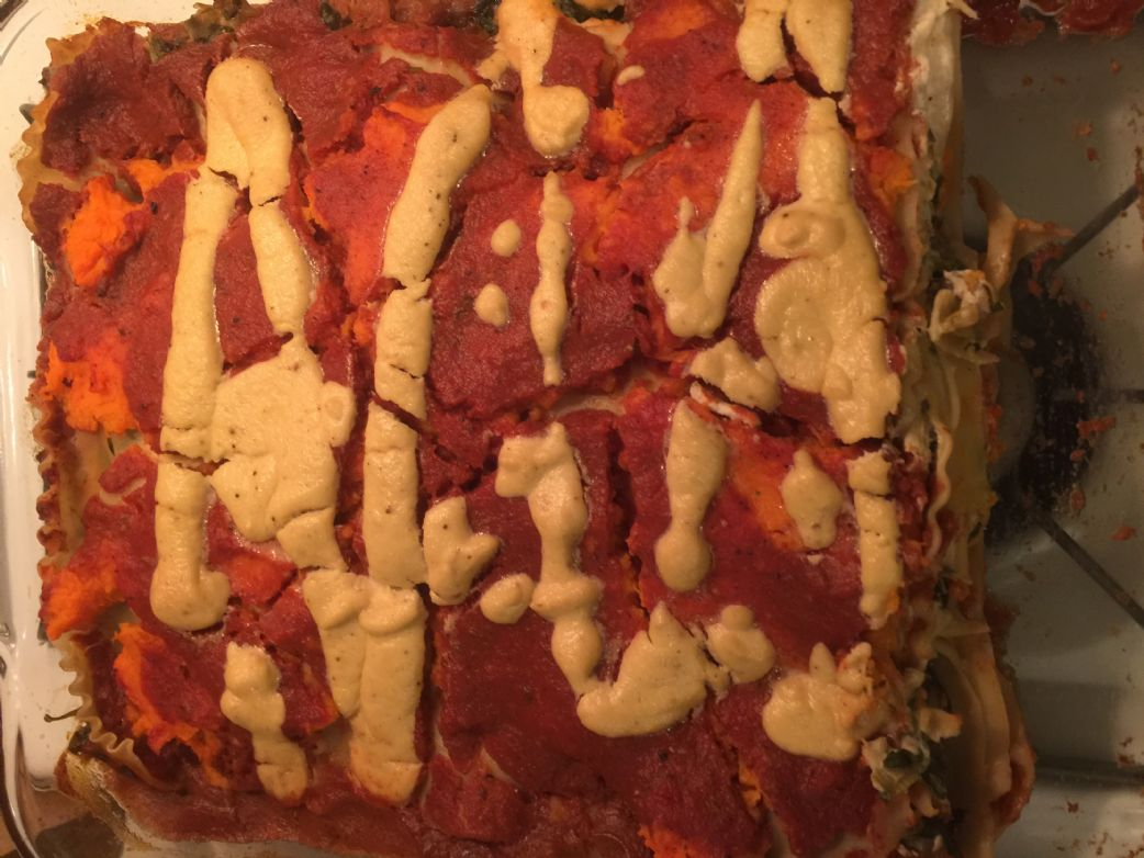 Vegan Sweet Potato Lasagna with Cashew Cheese