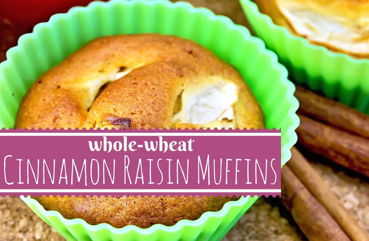 Vegan Whole Wheat Cinnamon Raisin Muffins