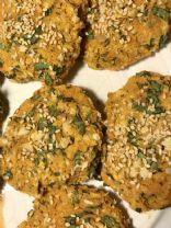Vegan sweet potato falafel