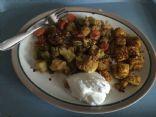Vegetable & Breaded Tofu in Vindaloo Curry Sauce