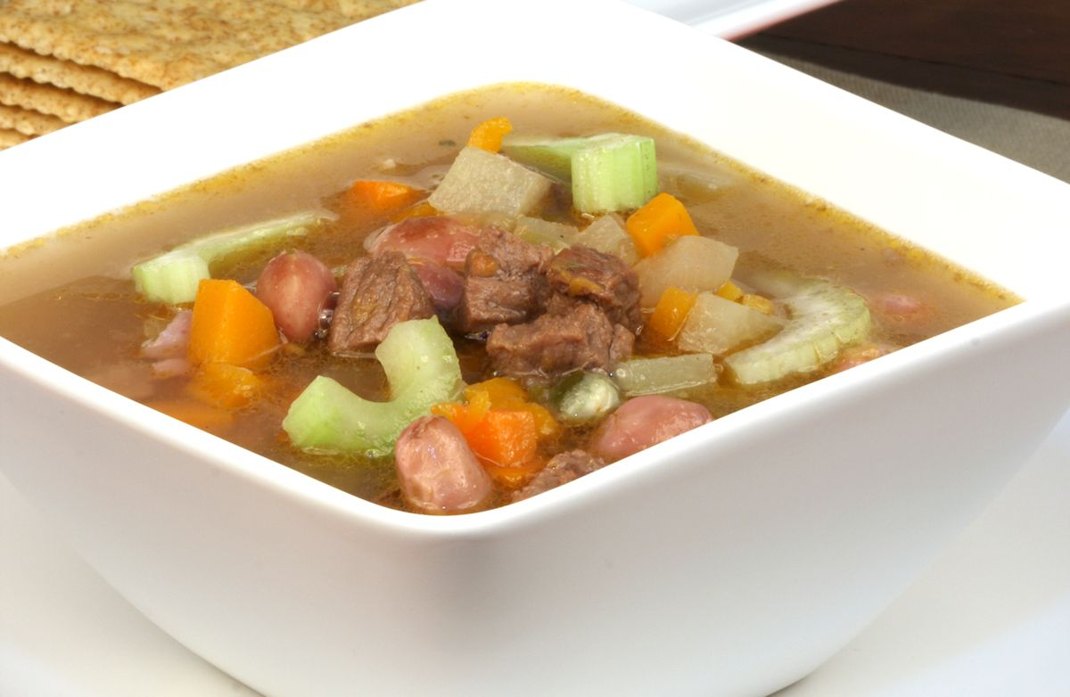 Vegetable Beef Soup Recipe | SparkRecipes