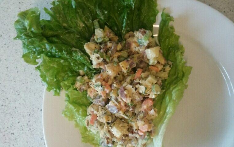 Vegetarian Rainbow Waldorf Salad