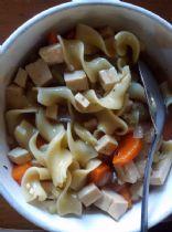 Vegetarian no chicken noodle soup