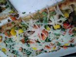 Veggie Flatbread with Avacado Spread