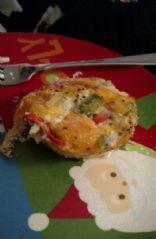 Veggie egg white muffin
