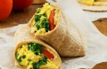 Veggie packed breakfast burrito