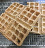 WFPB Oat Flour Light and Crispy Waffles