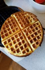 Waffles,  low carb low calorie (half recipe)