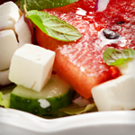 Atkins Watermelon, Feta and Cucumber Salad