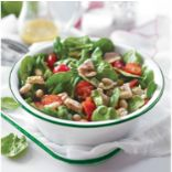 White Bean, Tomato, and Spinach Salad
