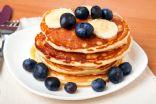 Whole-Grain Banana Blueberry Pancakes