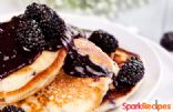 Whole-Grain Banana Pancakes with Blackberry Syrup