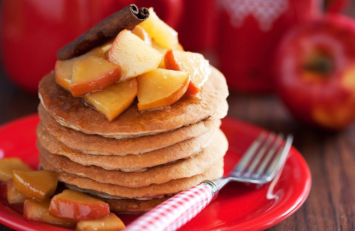 Whole-Wheat Cinnamon Pancakes