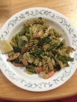 Whole Wheat Kale Pesto pasta with Shrimp