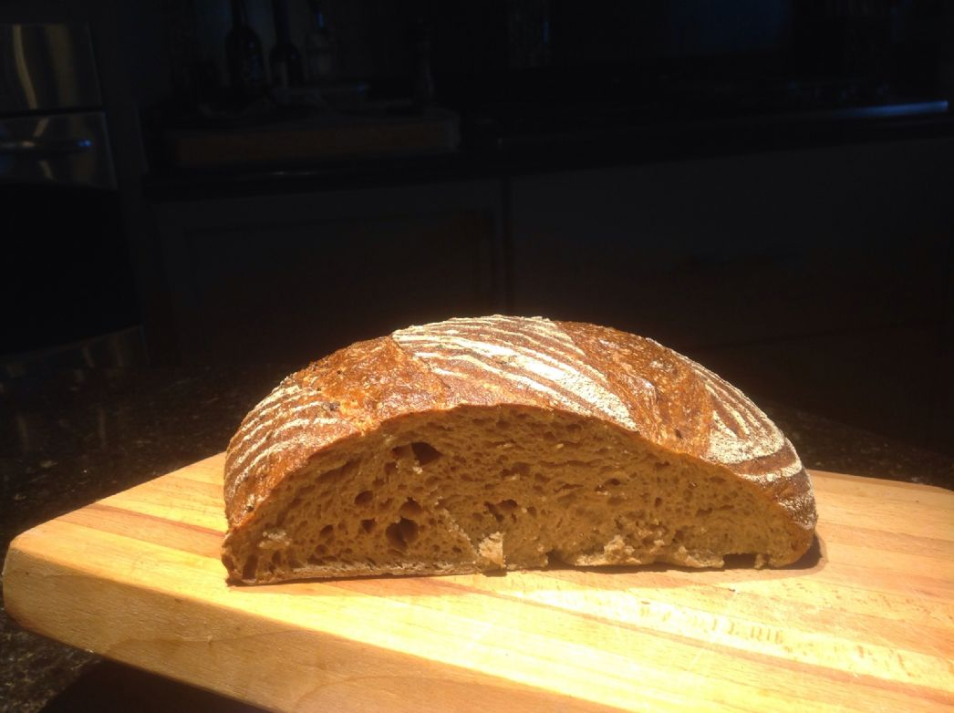 Whole grain spelt sourdough bread