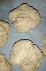 Whole wheat vegan biscuits