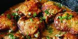Whole30 Chicken Thighs with Creamy Mustard Sauce