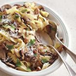 Wide Mushroom Pasta