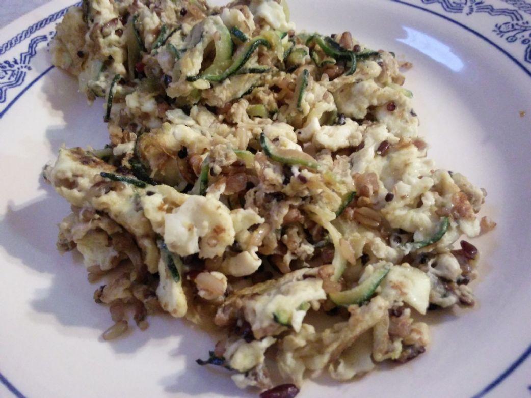 Zucchini & Scrambled Eggs