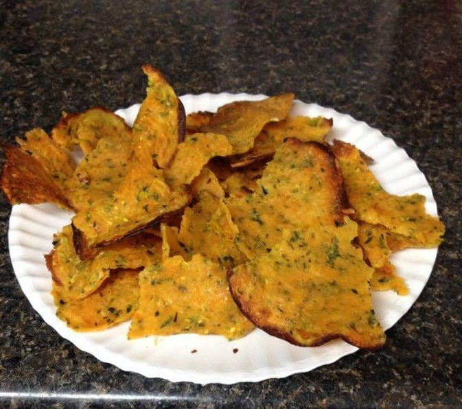 Zucchini Doritos-style chips