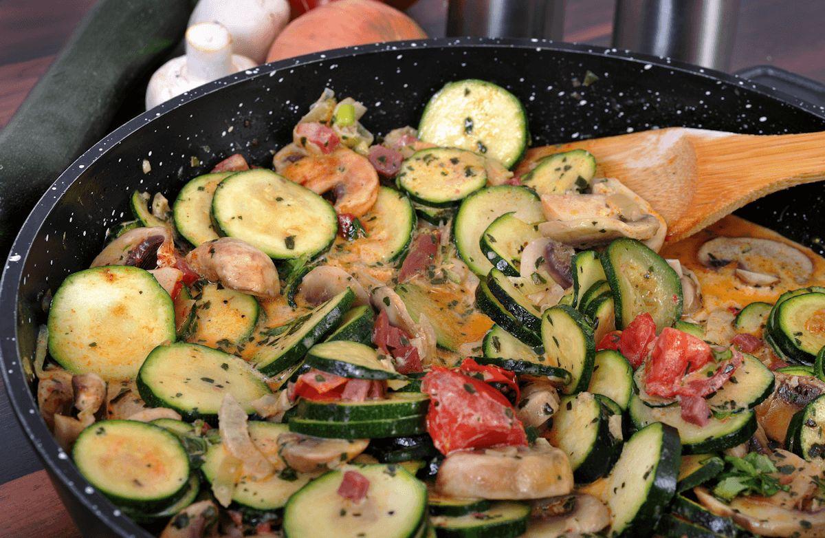Zucchini Mushroom Saute