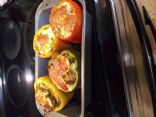 Zuccini and Turkey Stuffed Peppers