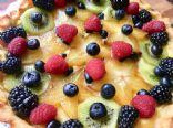 Lemon Curd Tart with Berries Keto
