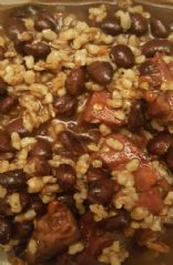 Cajun Black Beans & Rice with ham
