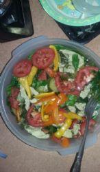 Chicken Zucchini Kale Salad