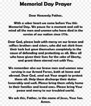 Memorial Day Prayer
