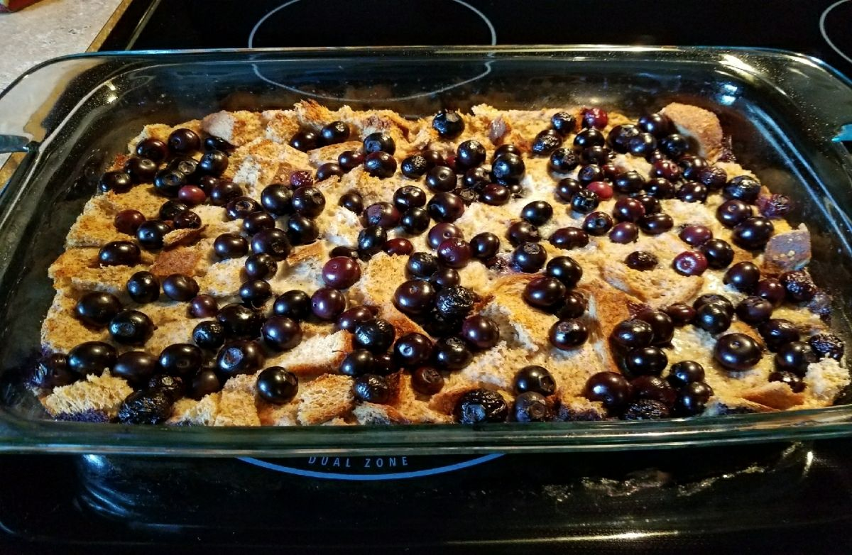 Clean Eating Blue Berry French Toast