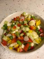 Chopped fresh vegetable salad