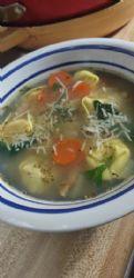 Tortellini & white bean soup