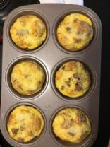 Egg sausage and cheese muffins