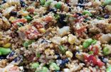Quinoa Salad with Corn, Roasted Red Peppers Edamame and Black Beans