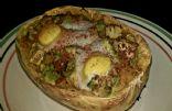 Twice Baked Egg Salsa and Avocado Spaghetti Squash