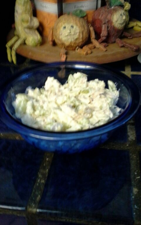 Chicken salad w/ green grapes & almonds