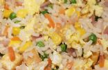 Tofu Fried Rice with White Rice with Vegetables Steam in Bag