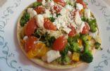 Veggie pesto mini pizza