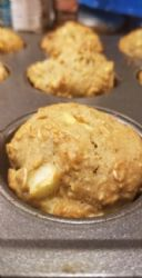 Oat wheat apple protein muffin
