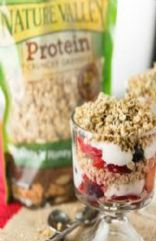 Homemade strawberry and granola Parfait
